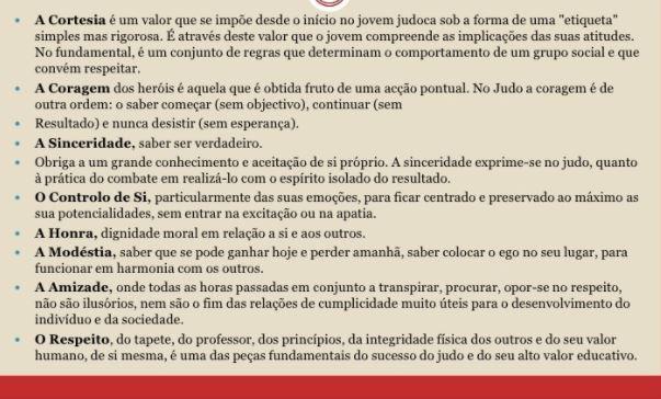 código moral do judô, Pi Judoca